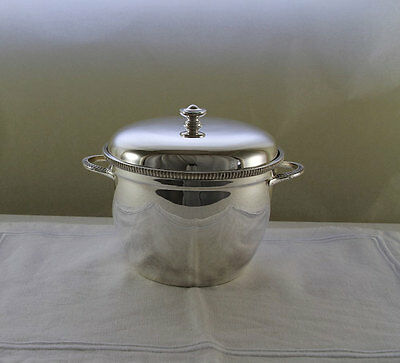 Silver Ice Bucket, Thermos Lining, 1.75 Pint, Gadroon Mount