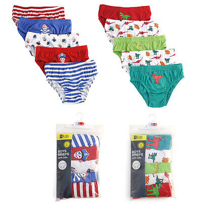 5 Pack Boys Girls Briefs/Underwear/Pants Size 2 - 8 Years Choice Of Designs