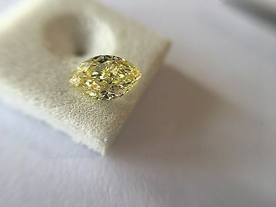 0.50 ct GIA Certified  NATURAL Fancy Yellow VS2 clarity Loose Diamond For Ring