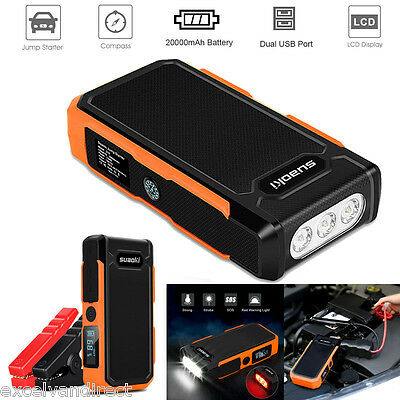 Portable Car Battery Power Booster Jump Start Auto Starter Rescue Pack 20000mAh