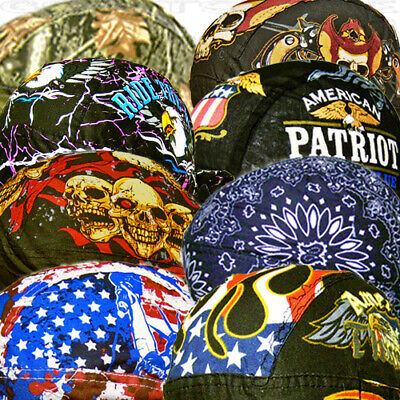 Paisley Bandana Black-Red-Do Head Wrap Skull cap Doo Capsmith Du rag Mens Biker
