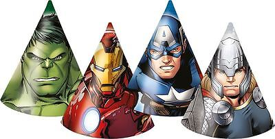 Marvel Avengers Assemble Children's Boys Birthday Party Paper Cone Hats - 6 pack