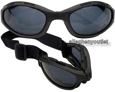 Black COLLAPSIBLE TACTICAL BALLISTIC GOGGLES UV400 CE APPROVED Anti-Fog NEW