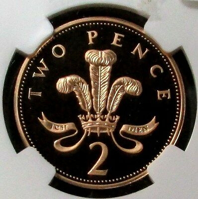 2002 Gold Great Britain 2 Pence Golden Jubilee Coin Ngc Proof 69 Ultra Cameo