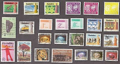 25 All Different ZIMBABWE Stamps