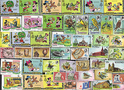 50 Different Basutoland & Lesotho Stamps