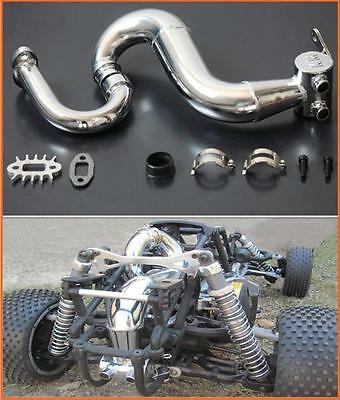 1/5 Baja Tuned Pipe KM Thor Xport & Clamp fit HPI 5B SS  PRC KM Rovan