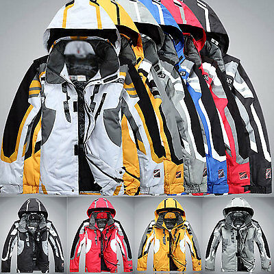 Men's Winter ski suit Jacket Waterproof Coat snowboard Snowsuits Clothing Hooded
