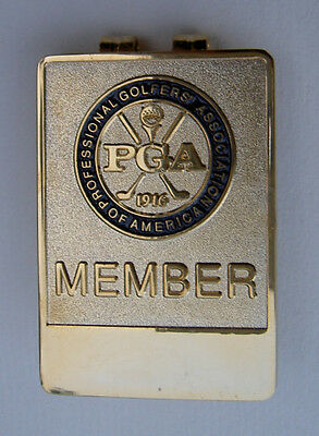 Money Clip ~ PGA of America Member ~ Golf Gold