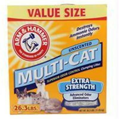 Co Inc-Arm & Hammer Multi-chat non parfumé Litter Extra Strength 26,3 Pound