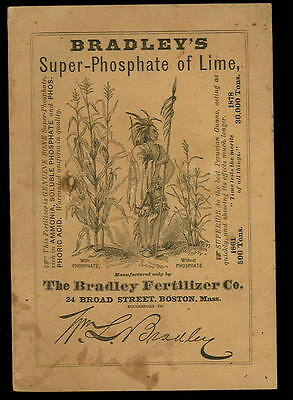 1878 Orig. Catalog- SUPER PHOSPHATE of LIME-BRADLEY FERTILIZER Co-Boston MA-28pg