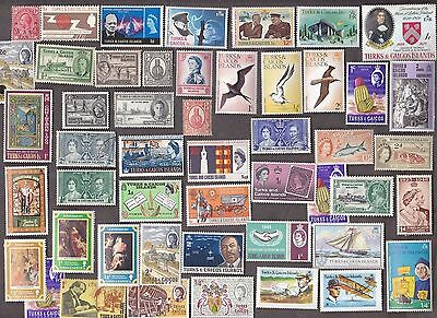 50 Different Turks & Caicos Islands Stamps  Mint Nh