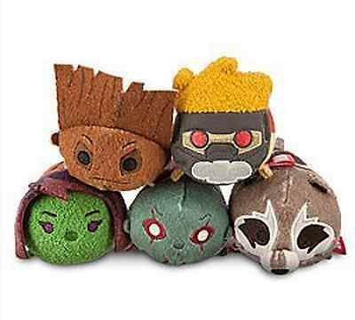5 Styles Disney TSUM TSUM Guardians of the Galaxy Plush Toys Dolls With Chain