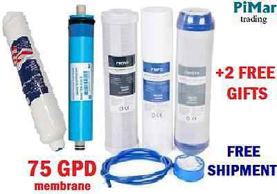 Replacement Filter Set For 5 Stage Reverse Osmosis Ro System  75Gpd Membrane