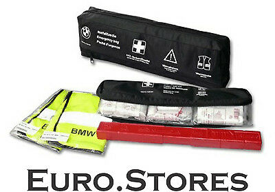 BMW Emergency Pack 2 x Vests Warning Triangle First Aid Kit 82262210667 Genuine