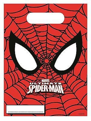 Marvel Ultimate Spiderman Party Bags Loot Gift Birthday Party Pack of 6 Supplies