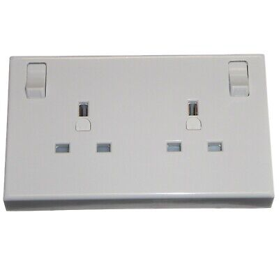 Single to Double Converter Socket 2 Gang Using 1 Gang Wiring (Pack of 1-10)