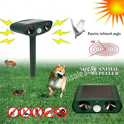 Solar Powered Outdoor Garden Mole Rat Rodent Repeller Repellent Dual Ultra Sonic