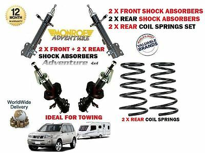 FOR NISSAN  X TRAIL 2001-  2x FRONT + 2x REAR SHOCK ABSORBER + REAR COIL SPRINGS
