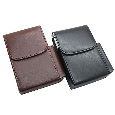 PU Leather Cigarette Case Holder With Lighter Compartment Pouch &Pocket For Coin