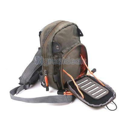 Lightweight Compact Outdoor Fly Fishing Tackle Chest Sling Waist Pack Bag