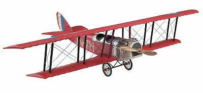 "WWI Curtiss Red Jenny JN 4 Biplane Airplane Wood Model 20"" Aircraft New"