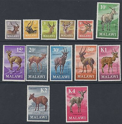 MALAWI : 1971 Antelopes definitives set SG375-87 MNH