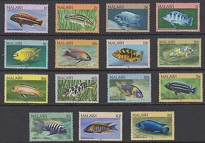 MALAWI : 1984 Fish definitives set SG688-702 MNH
