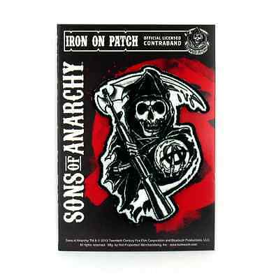 Sons of Anarchy Officially Licensed Iconic Reaper Logo Iron-On Patch