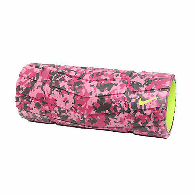 "Nike Textured Foam Roller Pink / Fushia 13"" inch Gym Fitness Yoga NER15-695"