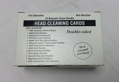 Zebra Head Cleaning Cards (50 pack) 104531-001 NEW!
