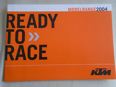 KTM range Motorcycle brochure 2004 French & Italian text