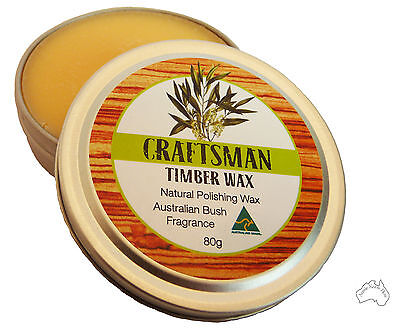Australian Carnauba & BeesWax Wood Wax ideal Furniture Polish Or for Restoring