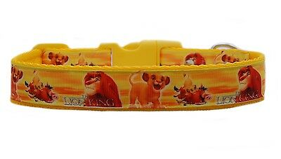 "Yellow   ""The Lion King   ""  medium large dog collar and  or lead set 1"" 25mm"