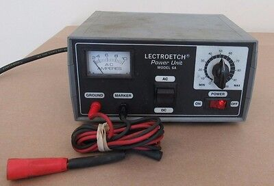Lectroetch Power Unit Model 6A S/n 3730 120 Vac 60Hz Free Shipping