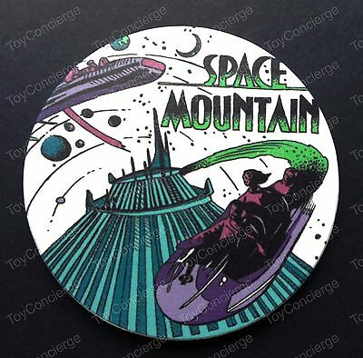 "DISNEY Parks COASTER Attraction Poster Coaster SPACE MOUNTAIN 4 1/2"" NEW"
