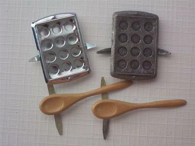 BRADS - BAKING COOKING  pk of 8 cake pan spoons scrapbooking cook split pins