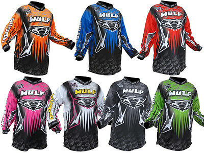 Wulfsport Wulf Adults Arena Motocross Enduro Quad Mtb Jersey Top Shirt Adults