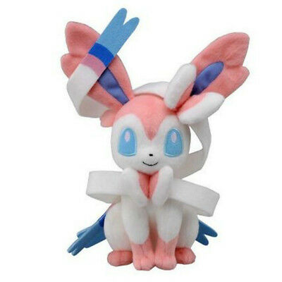 "Cute Pokemon X Y Sylveon Kids Toy Soft Plush Stuffed Doll Toy Birthday 10""/25CM"