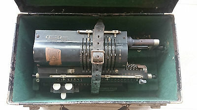 Antique Vintage Odhner Calculator Original 1930s 1940s Swedish Pinwheel Suitcase
