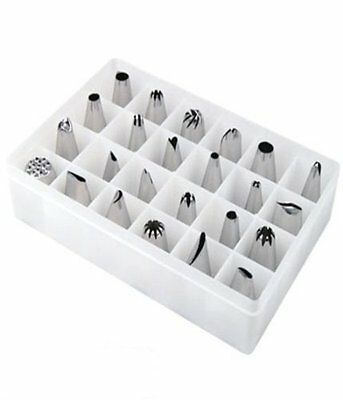 727Q4 Icing Nozzles Stainless Steel Pastry Crafts Cake Pack of 24 Pcs Color