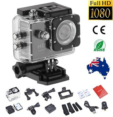 Sports Action Camera HD 1080P Waterproof Video Cam Recorder +Motorbike Fit Mount