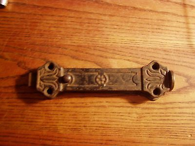 Vintage Antique Primitive Spring Loaded Latch - Door bottom Barn Farm steampunk
