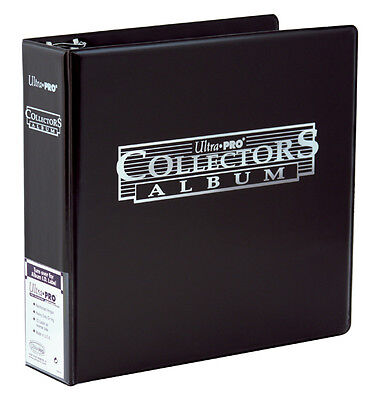 Ultra Pro 3 Ring BLACK Collector Album Binder Folder Pokemon MTG AFL Yugioh