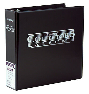 Ultra Pro 3 Ring BLACK Collectors Album Binder Card Folder Pokemon MTG Yugioh