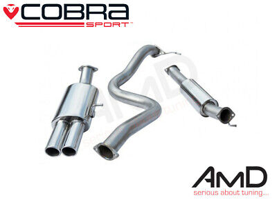 "Cobra Fiesta ST180 ST200 3"" Race Cat Back Exhaust Resonated Stainless Steel"