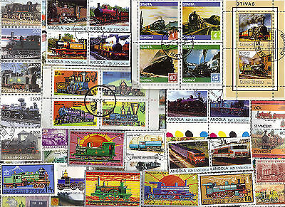 300 All Different TRAINS on Stamps, A HUGE COLLECTION