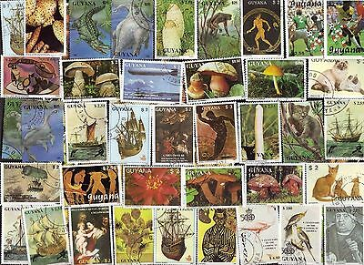 50 Different  GUYANA Stamps (J)