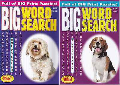 Large Print Wordsearch Books - 2 Book set - Over 140 Puzzles - New  (Set 35)
