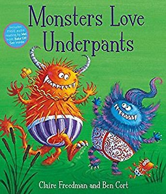 Monsters Love Underpants by Claire Freedman (Paperback, 2015) New Book